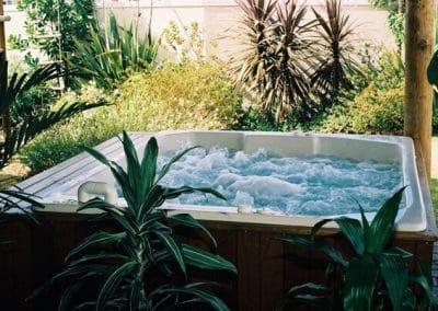 wooden spa bath