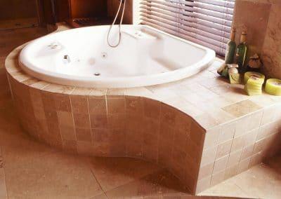 large bath in bathroom